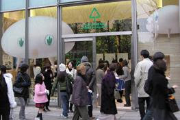 2007年1月に表参道ヒルズでおこなった。『Sustainable Forest Gallery』外観の様子。