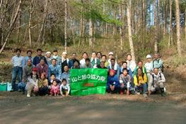 2007年5月12日~13日に実施した、 小諸市での第5回目の除伐活動参加者