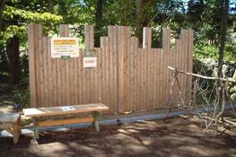 「愛・地球博」会場に採用された間伐材パネル