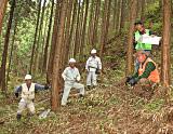 森林環境調査の様子