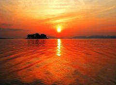 穴道湖の夕日