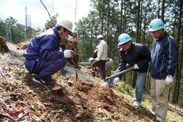 奈良県吉野町での植林活動